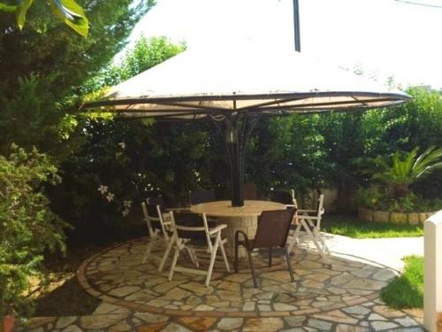 Greece Sivota Thesprotias Villa Dina Bedroom with 2 single Beds Table Out